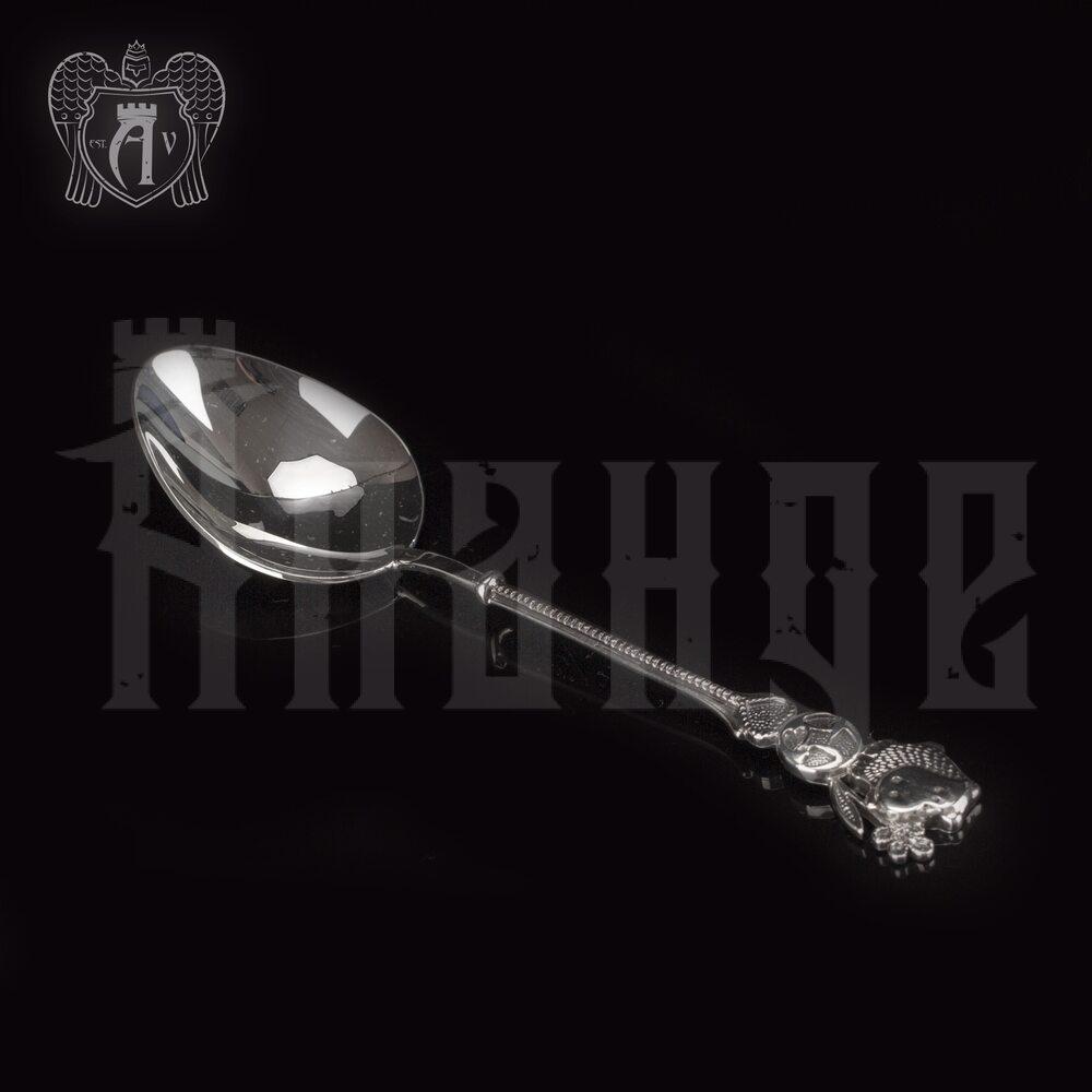Серебряная чайная ложка  «Бегемотик» Апанде, 230001234
