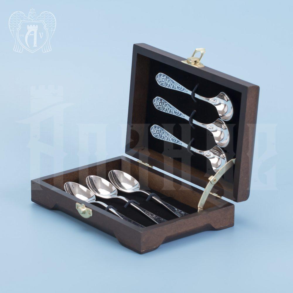 Кубачинские чайные ложки ручной работы «Миледи» комплект 6 шт Апанде, 24000210-9