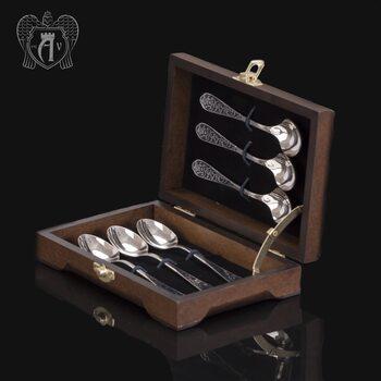 Кубачинские чайные ложки ручной работы «Миледи» комплект 6 шт