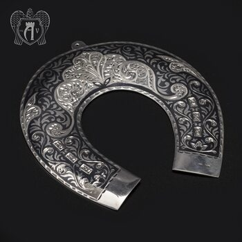 Серебряная подкова «Счастье в дом»