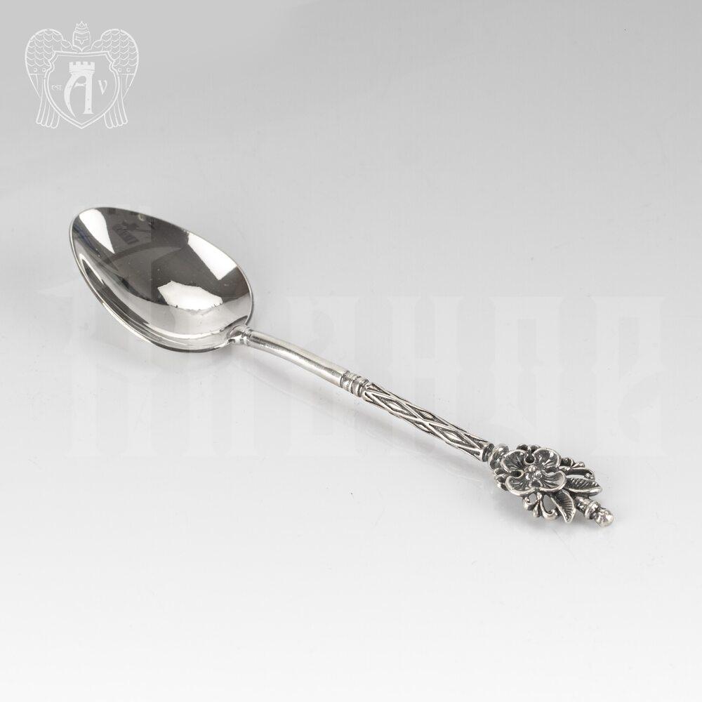 Серебряная чайная ложка  «Цветочек» Апанде, 230001227