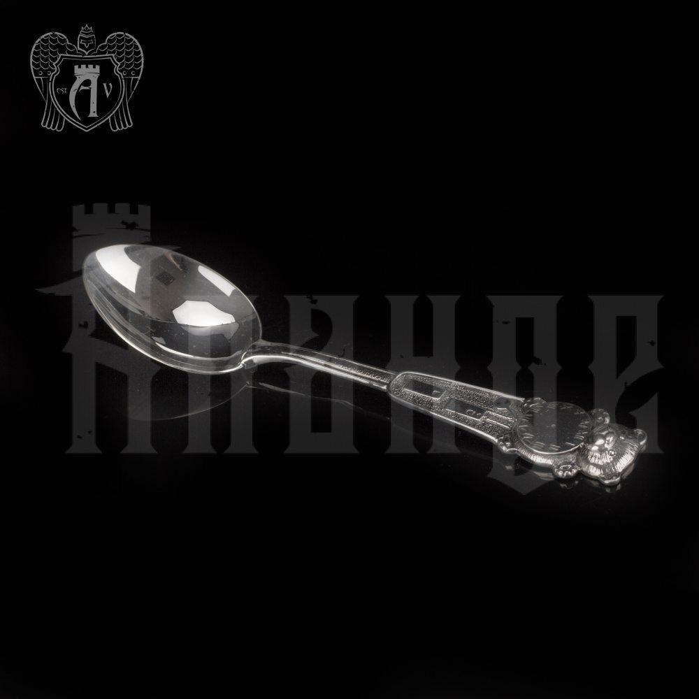 Серебряная чайная ложка  «Часики» Апанде, 230001229