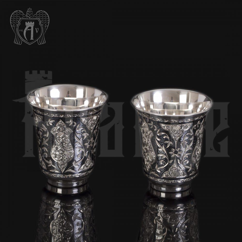 Набор для воды кувшин и два стакана из серебра «Марокко» Апанде, 11100692