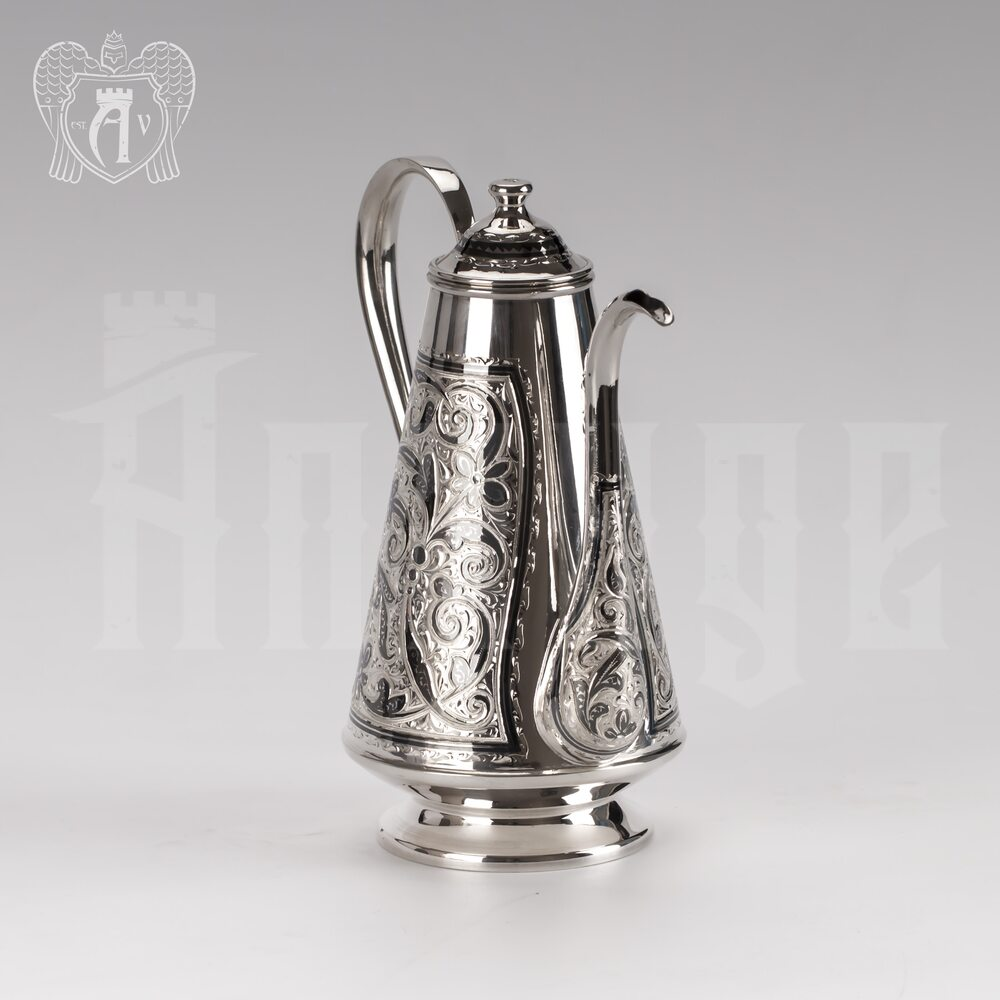 Кофейник из серебра «Бомонд» Апанде, 460001