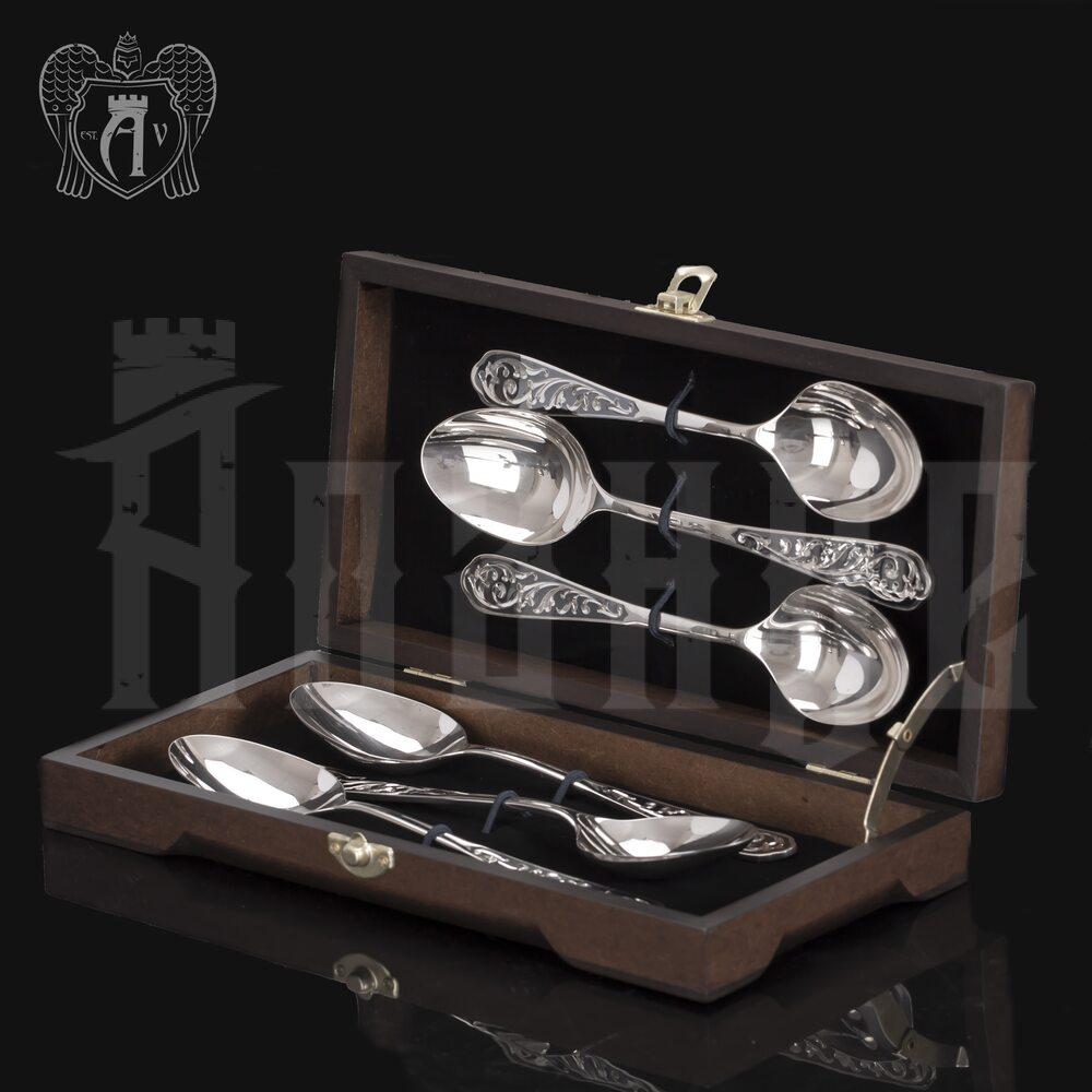 Столовые ложки из серебра 925 пробы «Виноградная лоза» 6 шт Апанде, 290002194