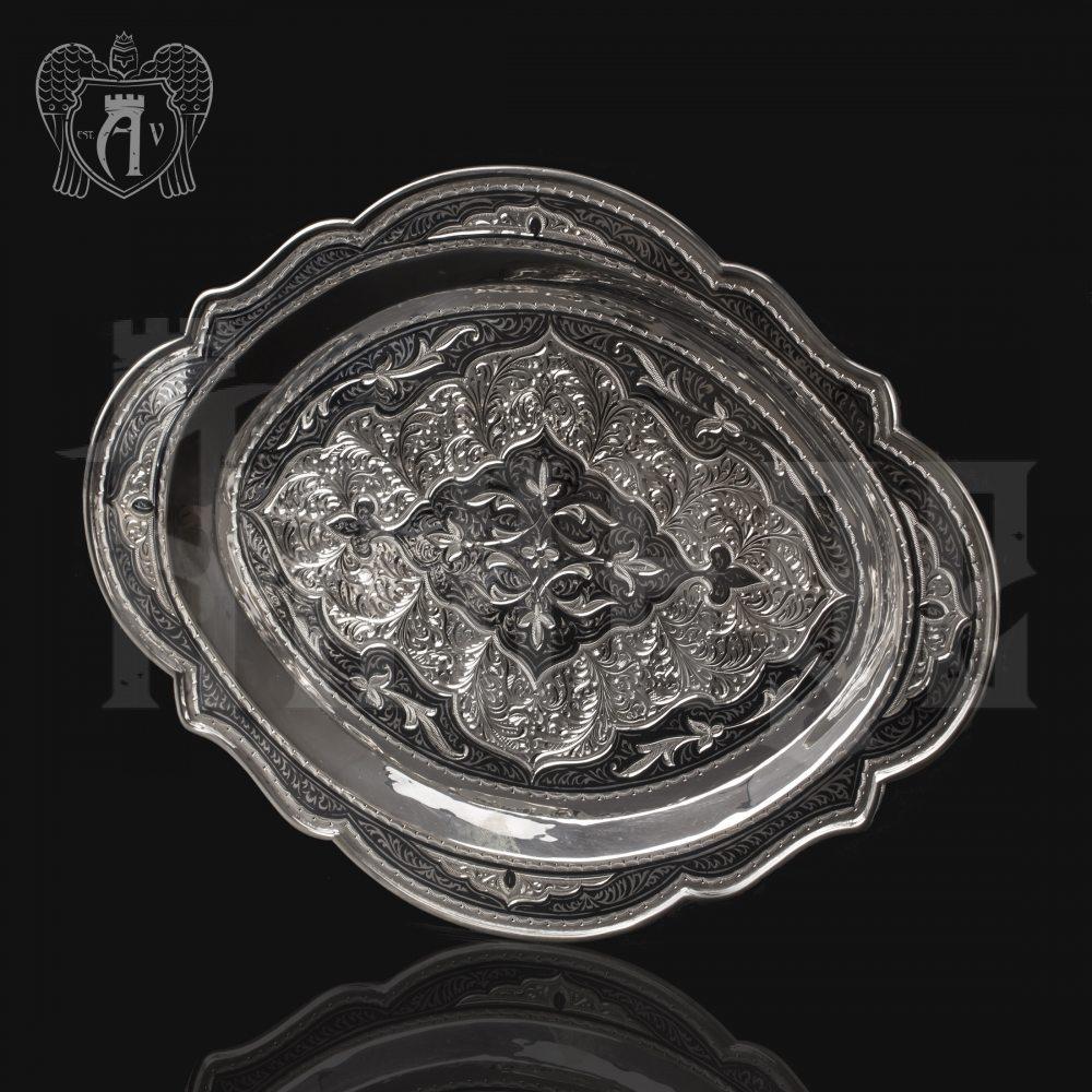 Серебряный поднос «Кубачинский» Апанде, 770007