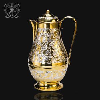 Большой кувшин для напитков из серебра с позолотой «Каир»
