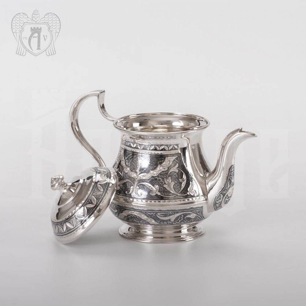 Набор чайный серебряный «Традиция» Апанде, 1110013537