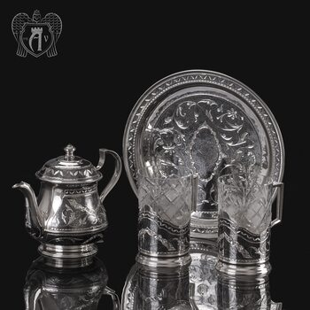 Набор чайный серебряный «Традиция»