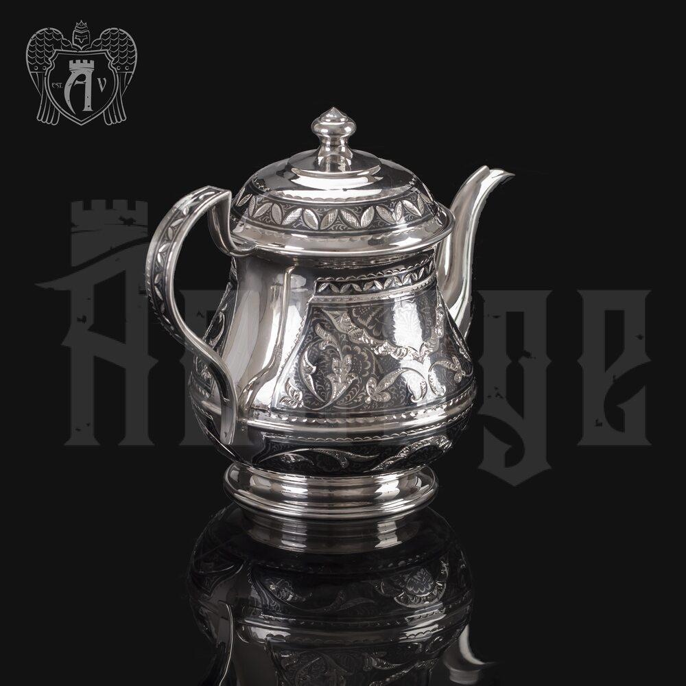 Серебряный чайник «Традиция» Апанде, 250009