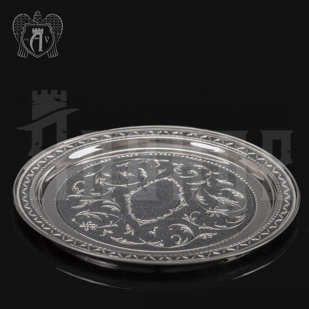 Серебряный поднос «Традиция» Апанде, 770007