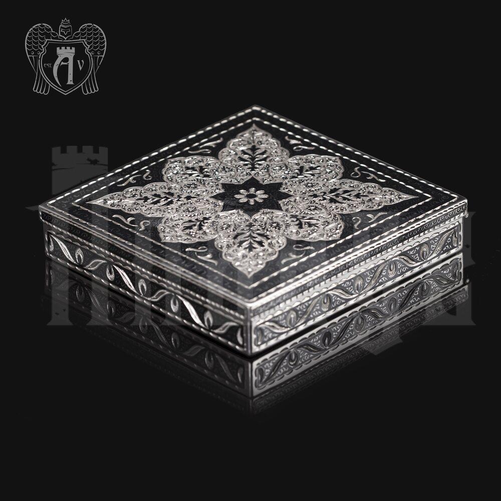 Портсигар настольный из серебра  «Авантаж» Апанде, 53000566