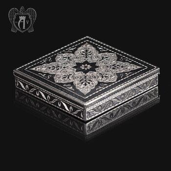 Портсигар настольный из серебра  «Авантаж»