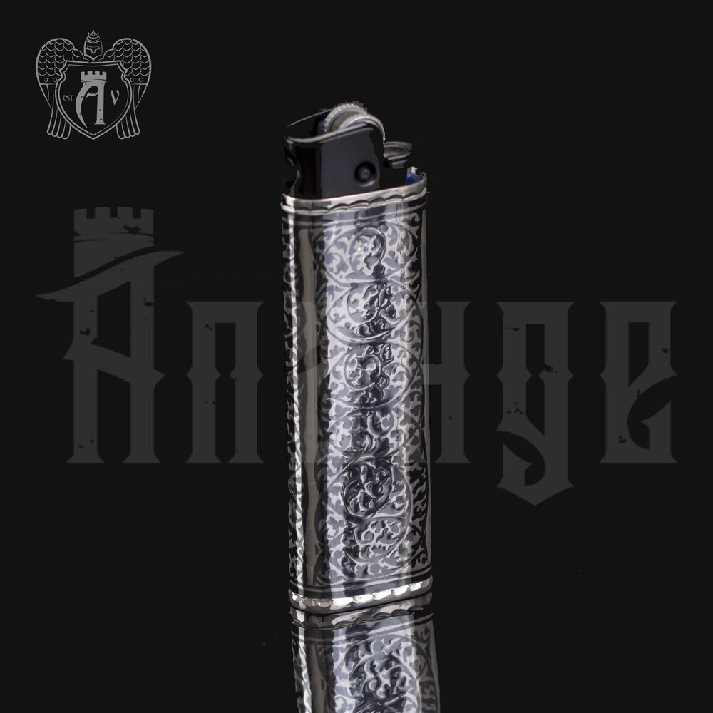 Зажигалка серебряная «Магнат» Апанде, 550001
