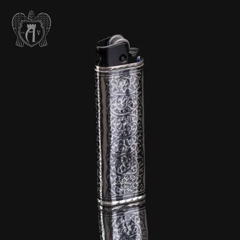Зажигалка серебряная «Магнат»