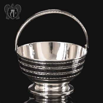 Серебряная конфетница « Корзинка»