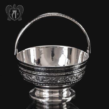 Серебряная конфетница « Лукошко»