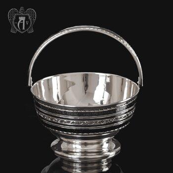 Серебряная конфетница « Чаепитие»