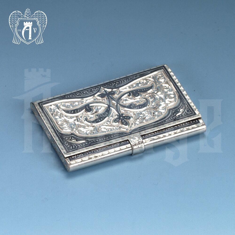 Визитница серебряная «Авантаж» Апанде, 91003213