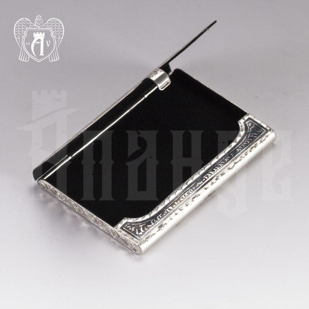 Визитница серебряная «Графика» Апанде, 91003214