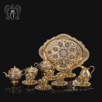 Серебряный сервиз чайный «Версаль»