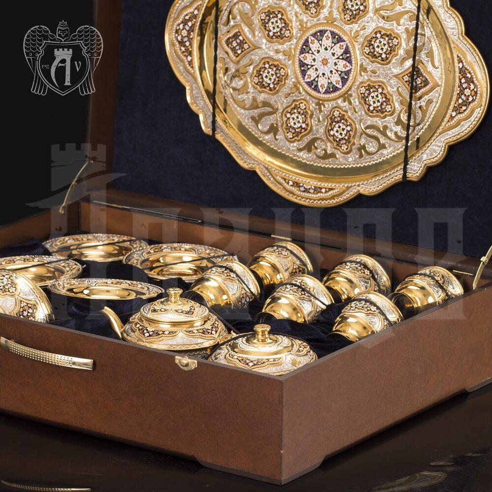 Серебряный сервиз чайный «Версаль»  Апанде, 111049252