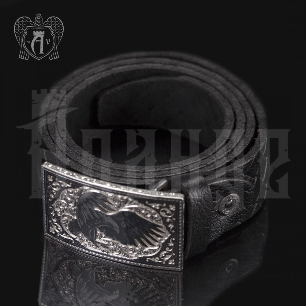 Серебряный ремень «Орел» Апанде, 88800138