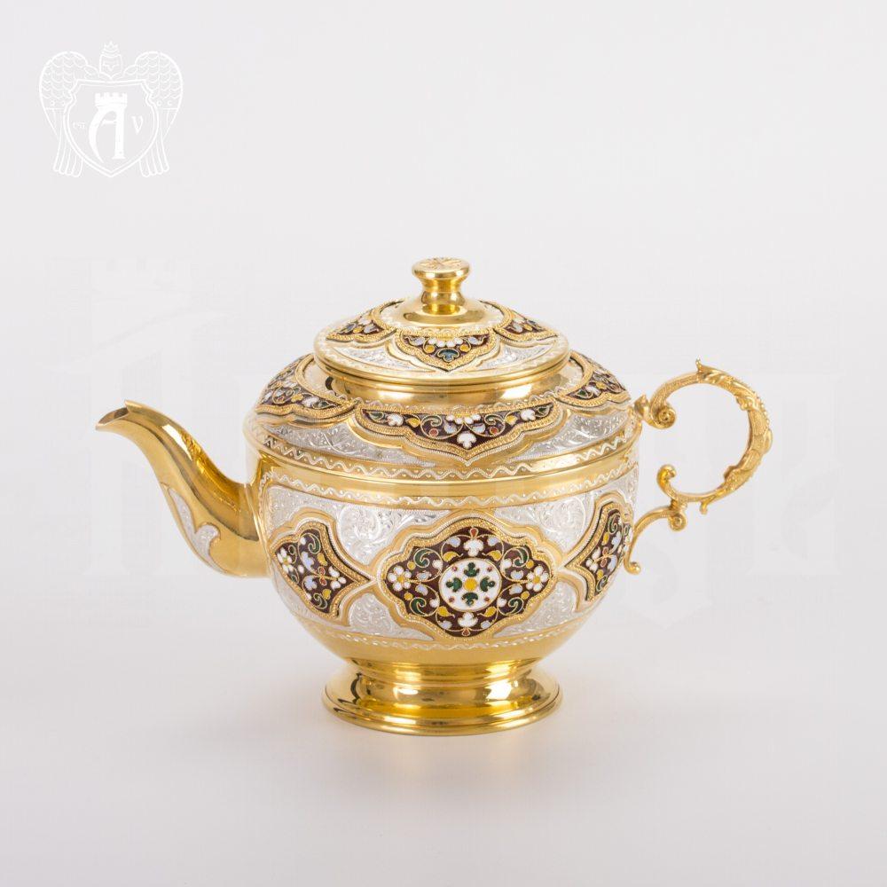 Чайник серебряный заварочный «Версаль» Апанде, 250009