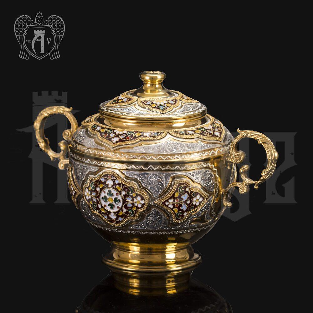 Серебряная сахарница «Версаль» Апанде, 350003150