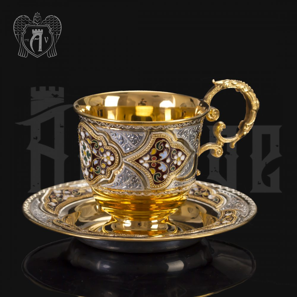 Серебряная чайная пара «Версаль» Апанде, 32009125