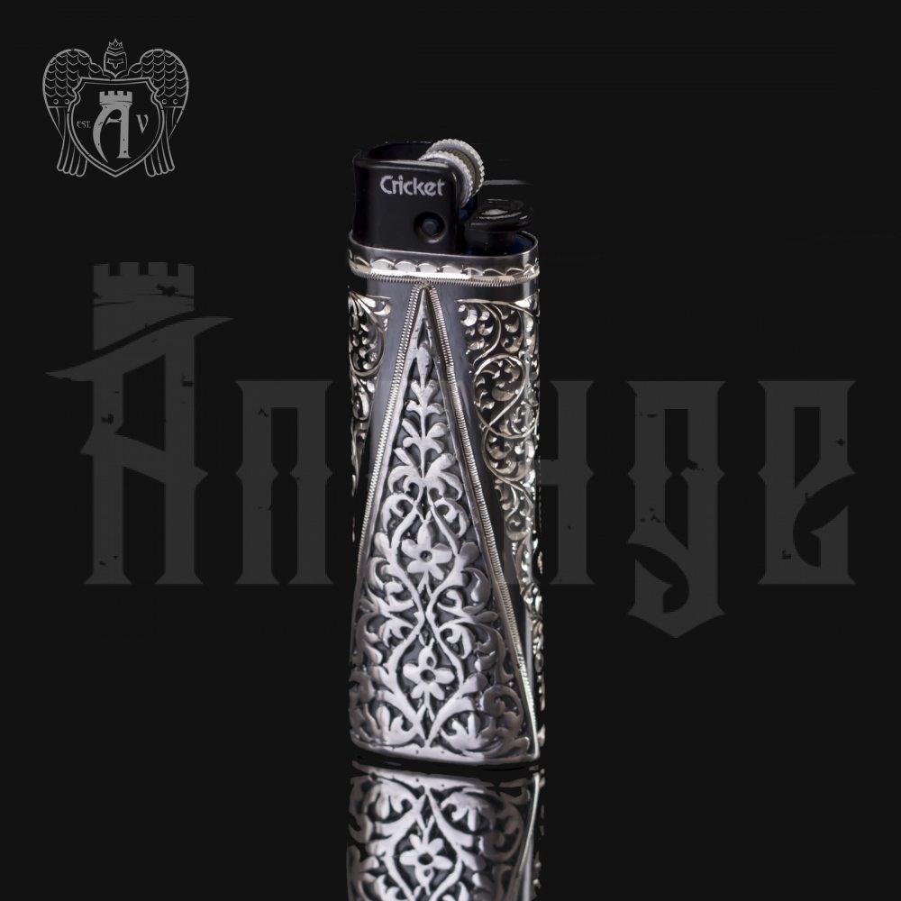 Зажигалка серебряная «Викинг» Апанде, 550002