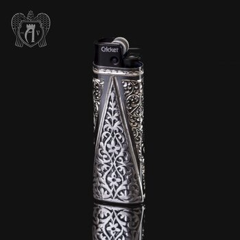 Зажигалка серебряная «Викинг»