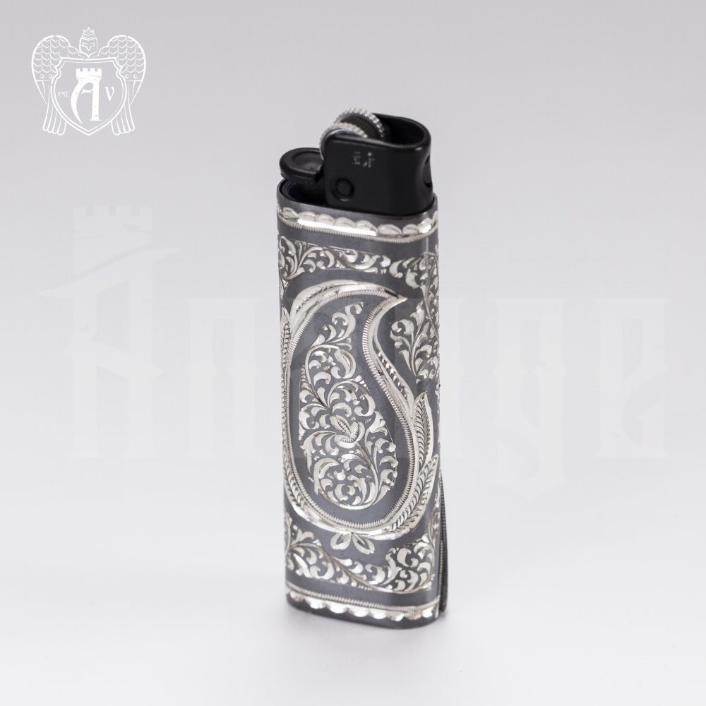 Зажигалка серебряная «Пламя» Апанде, 550003