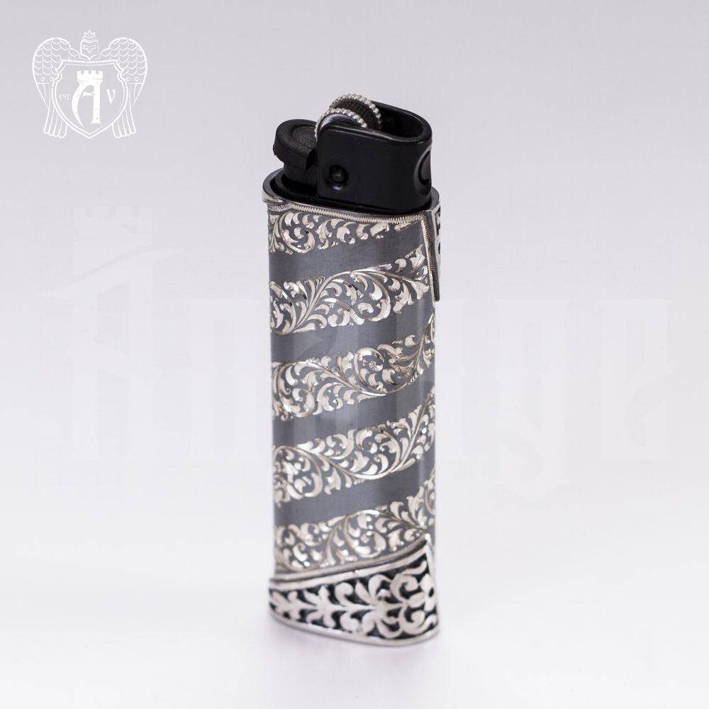 Зажигалка серебряная «Огонек» Апанде, 550004