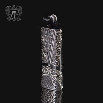 Зажигалка серебряная «Кубачи»