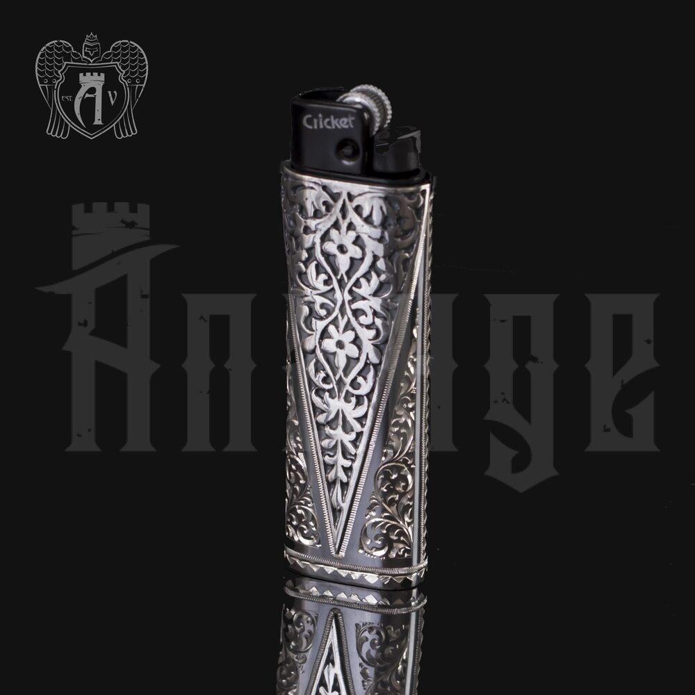 Зажигалка серебряная «Эго» Апанде, 550006