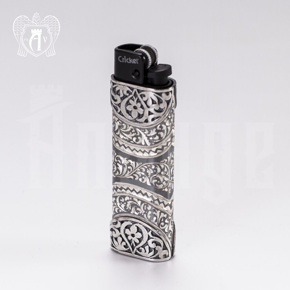 Зажигалка серебряная «Багдад» Апанде, 550007