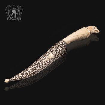 Кинжал из серебра (турецкий ятаган)  «Соколиный глаз»