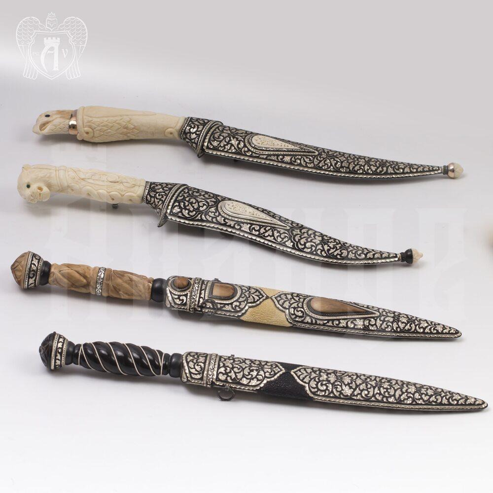 Кинжал из серебра (турецкий ятаган)  «Гепард» Апанде, 4500056