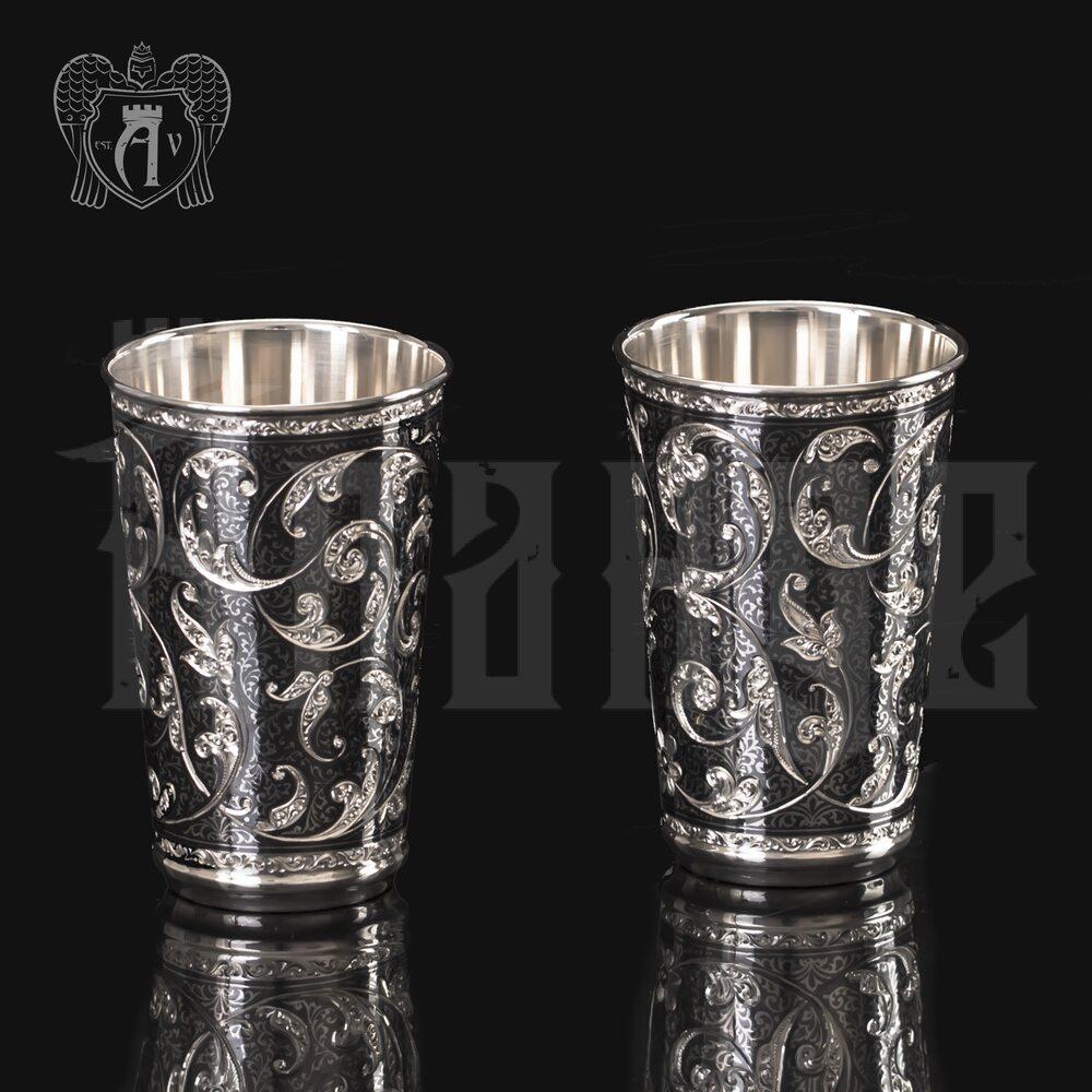 Набор серебряных стаканов «Симфония» Апанде, 71000436