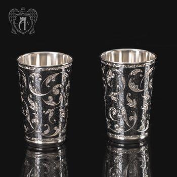 Набор серебряных стаканов «Симфония»