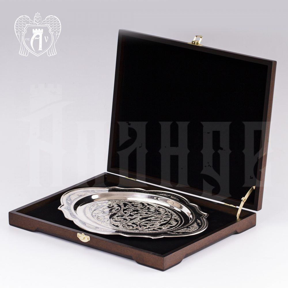 Серебряный поднос «Очарование» Апанде, 770004