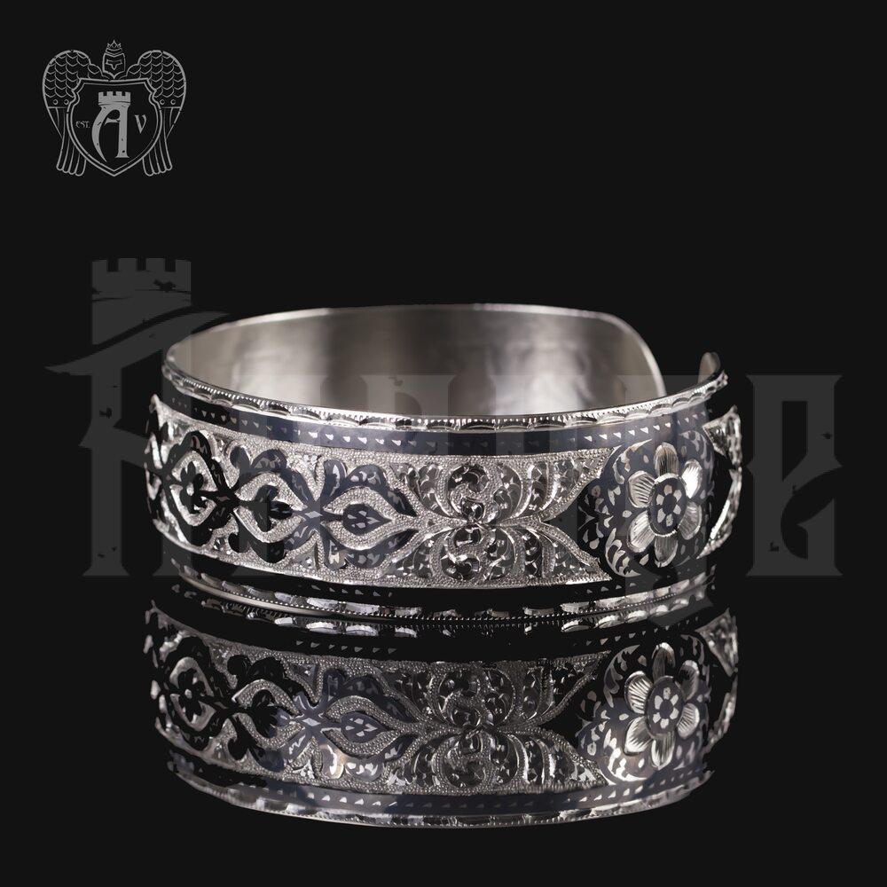 Браслет из серебра кубачинский «Морозный узор» Апанде, 23000423129