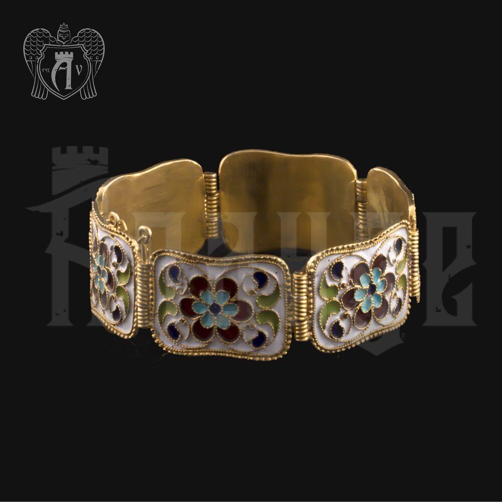 Браслет из серебра «Жозефина» с позолотой Апанде, 23000423151
