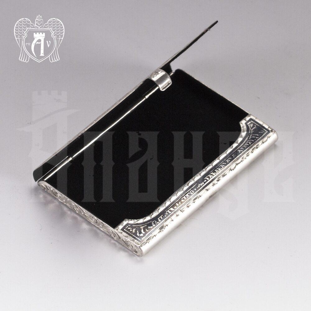Визитница серебряная «Кубачи» Апанде, 91003217