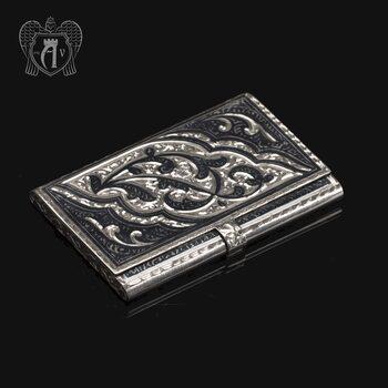 Визитница серебряная «Кубачи»