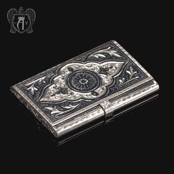 Визитница серебряная «Кубачинская»