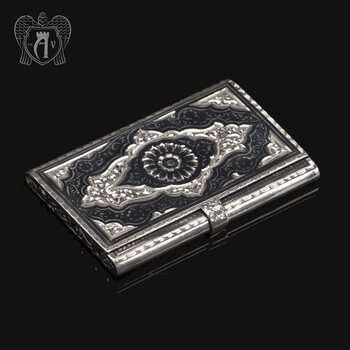 Визитница серебряная «Персидский мотив»