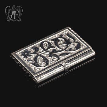 Визитница серебряная «Узор»