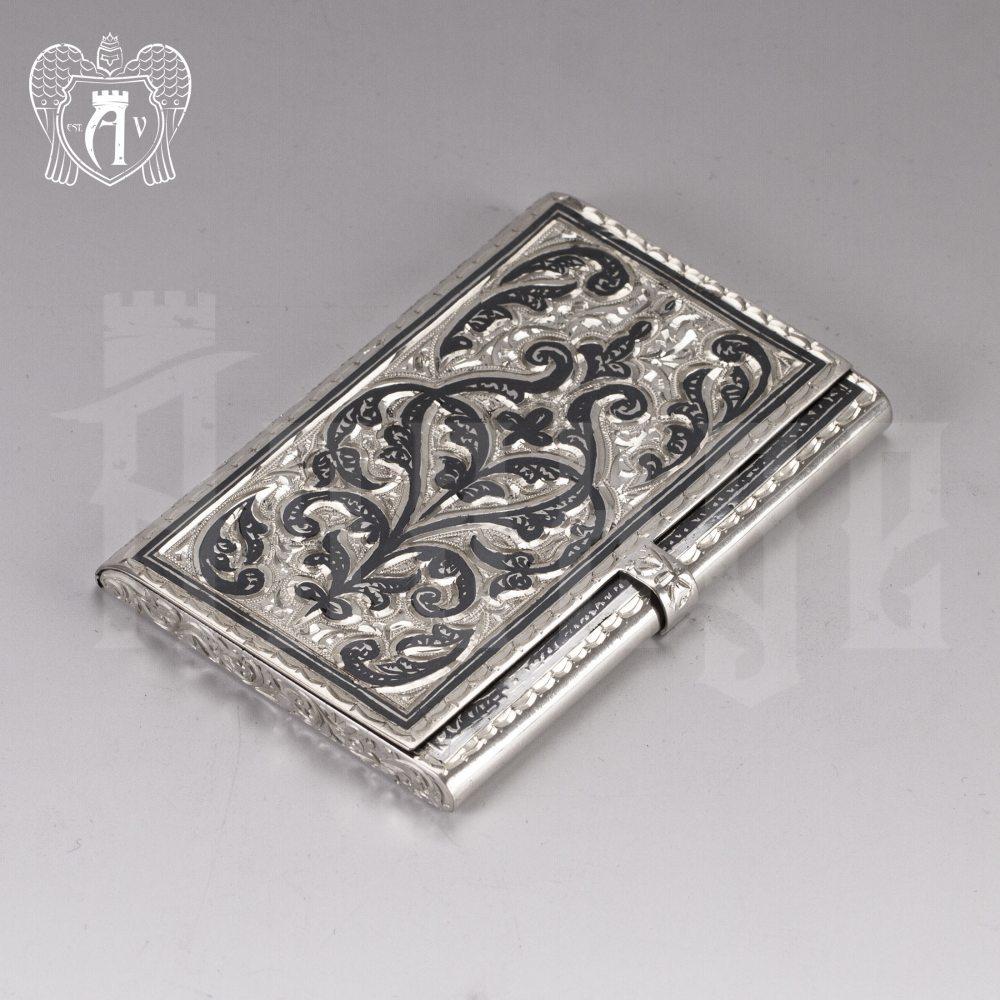 Визитница серебряная «Традиция» Апанде, 91003221